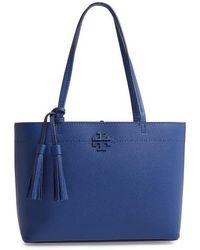 Tory Burch - Small Mcgraw Leather Tote - - Lyst