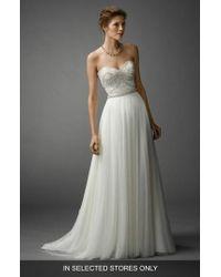 Watters - Gracua Soft Net A-line Skirt - Lyst