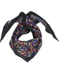 Rebecca Minkoff Ditsy Floral Diamond Silk Scarf - Black