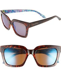 Lilly Pulitzer - Lilly Pulitzer Celine 54mm Polarized Square Sunglasses - - Lyst