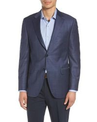 Peter Millar - Classic Fit Houndstooth Wool Sport Coat - Lyst
