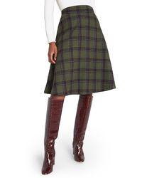 ModCloth Prim Class Hero Plaid Skirt - Green