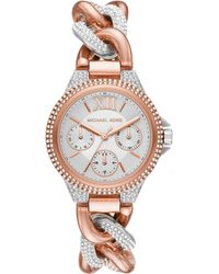 Michael Kors - Camille Pave Chain Bracelet Watch - Lyst