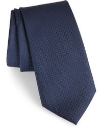 Calibrate Ballard Solid Silk Tie - Blue