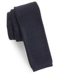 Ted Baker - Birdseye Knit Silk Skinny Tie - Lyst