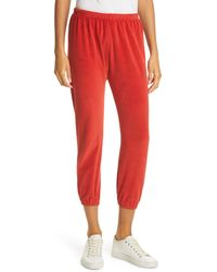 The Great The Velour Stadium Sweatpants - Red