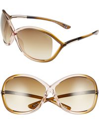 Tom Ford 'whitney' 64mm Open Side Sunglasses - Pink