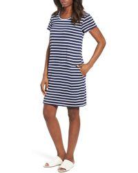 Caslon (r) Knit Shift Dress (regular & Petite) - Blue