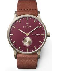 Triwa Ruby Falken Leather Strap Watch - Multicolor