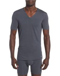 Calvin Klein | 'u5563' V-neck Micromodal T-shirt | Lyst
