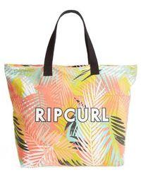 Rip Curl - Miami Vibes Palm Print Beach Tote - - Lyst