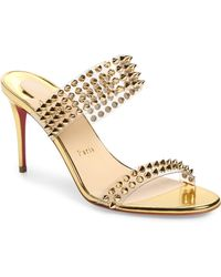 Christian Louboutin Spikes Only 85 Sandals - Metallic