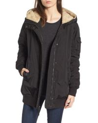 Andrew Marc - Nina Hooded Jacket With Faux Fur Trim - Lyst