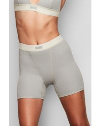 Skims Cotton Rib Boxers - Gray