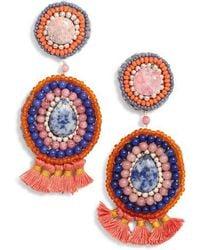 Nakamol - Circle Crochet Drop Earrings - Lyst