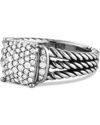 David Yurman 'wheaton' Ring With Diamonds - Multicolor