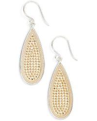 Anna Beck - Long Oval Drop Earrings - Lyst
