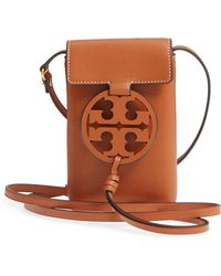 11ff05e4b40402 Lyst - Tory Burch Miller Royal Navy Leather Cross-body Bag in Blue