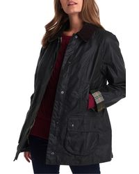 Barbour 'Beadnell' Waxed Cotton Jacket - Brown