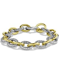 David Yurman 'oval' Large Link Bracelet With Gold - Metallic