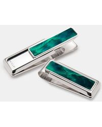 M-clip   M-clip Mother Of Pearl Inlay Money Clip - Metallic   Lyst