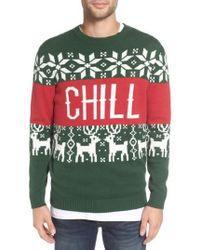 Altru - 'chill Vibes' Intarsia Crewneck Sweater - Lyst