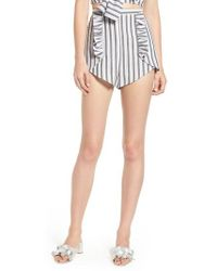 The Fifth Label - Acacia Stripe High Waist Shorts - Lyst