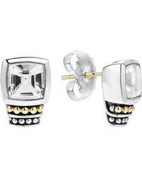Lagos 'caviar Color' Semiprecious Stone Stud Earrings - Black