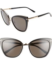 Tom Ford - Simona 56mm Cat Eye Sunglasses - Lyst
