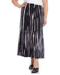 Karen Kane Tie Dye Skirt - Black