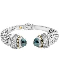 Lagos - Caviar Diamond & Semiprecious Stone Wrist Cuff - Lyst