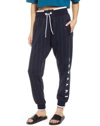 Ivy Park Ivy Park Baseball Pinstripe Sweatpants - Blue