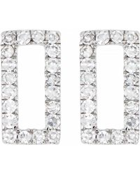 Carriere Jewelry Diamond Open Rectangle Stud Earrings Nordstrom Exclusive Lyst
