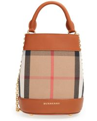 38170009647d Lyst - Burberry Medium  alchester In House Check  Tote in Red