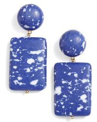 Lele Sadoughi - Keepsake Stone Drop Earrings - Lyst