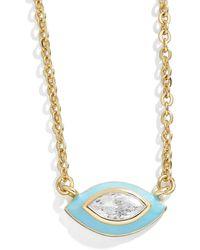 BaubleBar Basirah 18k Gold Vermeil Necklace - Blue