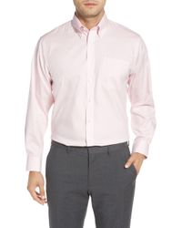Nordstrom Traditional Fit Non-iron Dress Shirt - Pink