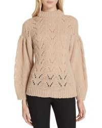 Kate Spade - Pointelle Sweater - Lyst