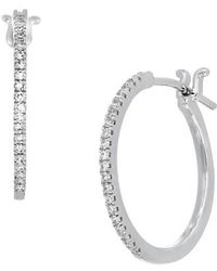 CARRIERE JEWELRY - Carriere Small Diamond Hoop Earrings (nordstrom Exclusive) - Lyst