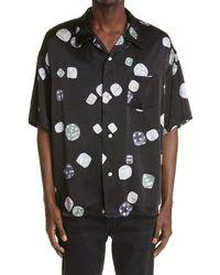 Visvim Wallis Dice Print Button-up Camp Shirt - Black