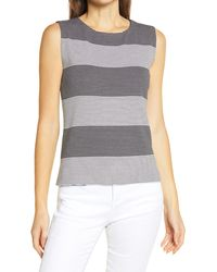 Ming Wang Stripe Tank - Black