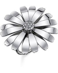 Sheryl Lowe Daisy Ring - Metallic