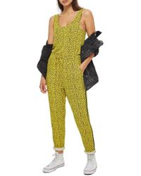 TOPSHOP - Animal Dot Jumpsuit - Lyst