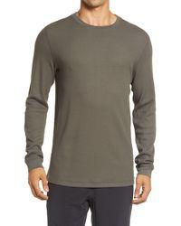Vuori Waffle Crewneck T-shirt - Gray