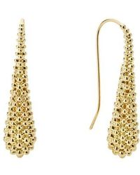 Lagos - Caviar Gold Teardrop Earrings - Lyst
