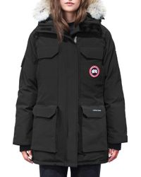 Canada Goose Expedition Hooded Down Parka With Genuine Coyote Fur Trim - Black