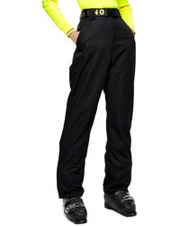 TOPSHOP black Straight Leg Ski Pants By Sno