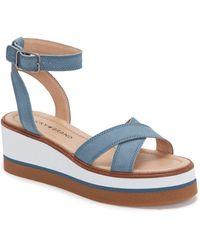 Lucky Brand Tarhi Wedge Sandal - Blue