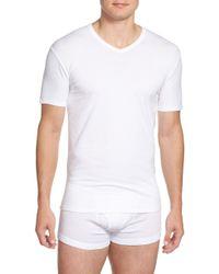 Calvin Klein - 2-pack Stretch Cotton T-shirt, Black - Lyst