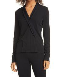 Donna Karan Donna Karan Long Sleeve Top - Black